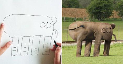 Un papa rend réel les dessins de son fils de 6 ans