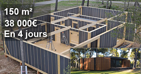 cette maison r volutionne le monde de l 39 habitat 150 m pour moins 38 000 et construite en 4 jours. Black Bedroom Furniture Sets. Home Design Ideas