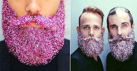 Per Natale la nuova tendenza è di mettere le paillettes sulla barba