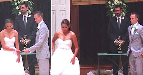 Elle abandonne son fiancé sur l'autel. Mais la raison est incroyable ! Regardez bien ces mains…