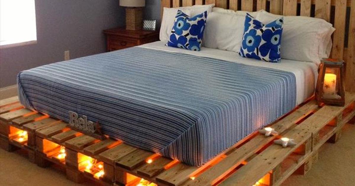 pourquoi acheter un lit quand on peut en faire un avec des palettes voici 14 id es fantastiques. Black Bedroom Furniture Sets. Home Design Ideas